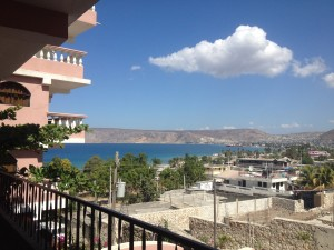 The view from my cousin's hotel, La Colline in St. Marc Haiti.
