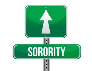 sorority road sign illustration design