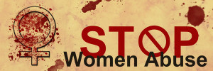 Stop Women Abuse Grunge Banner