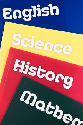 School subject folders