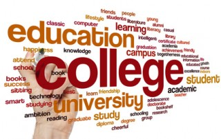 College concept word cloud background